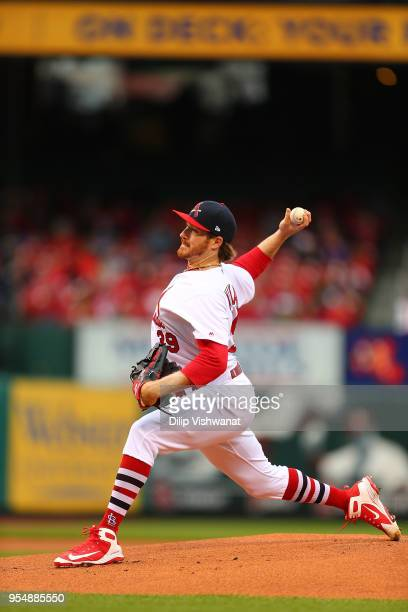 Miles Mikolas of the St Louis Cardinals pitches against the Cincinnati Reds at Busch Stadium on April 22 2018 in St Louis Missouri Miles Mikolas