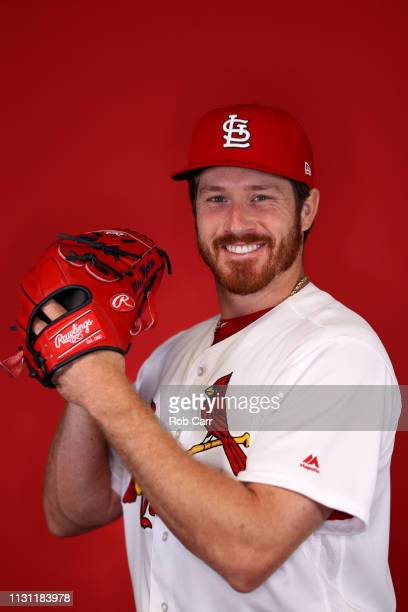Miles Mikolas of the St Louis Cardinals poses for a photo during photo days at Roger Dean Stadium on February 21 2019 in Jupiter Florida