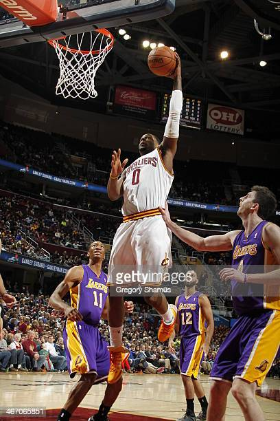 J Miles of the Cleveland Cavaliers shoots against the Los Angeles Lakers at The Quicken Loans Arena on February 5 2014 in Cleveland Ohio NOTE TO USER...