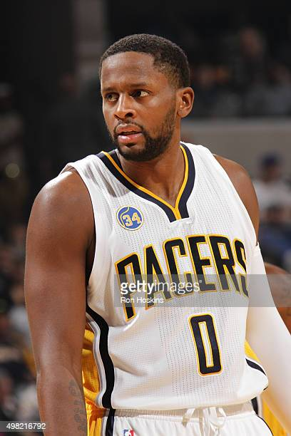 J Miles of the Indiana Pacers during the game against the Milwaukee Bucks on November 21 2015 at Bankers Life Fieldhouse in Indianapolis Indiana NOTE...
