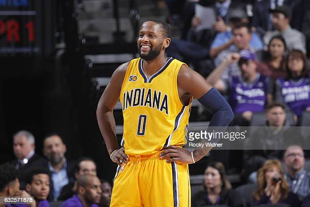 J Miles of the Indiana Pacers looks on during the game against the Sacramento Kings on January 18 2017 at Golden 1 Center in Sacramento California...