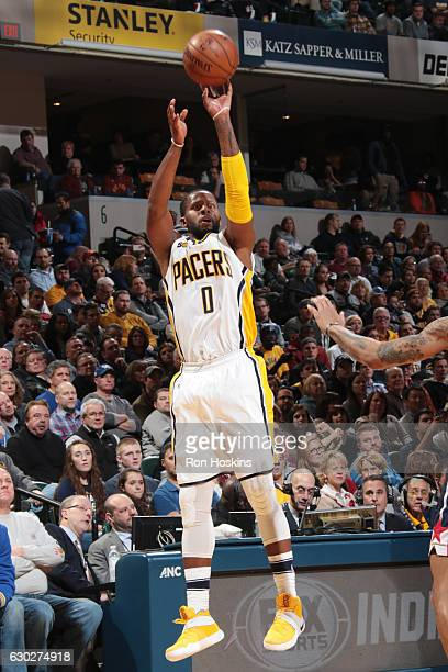 J Miles of the Indiana Pacers shoots the ball against the Washington Wizards on December 19 2016 at Bankers Life Fieldhouse in Indianapolis Indiana...