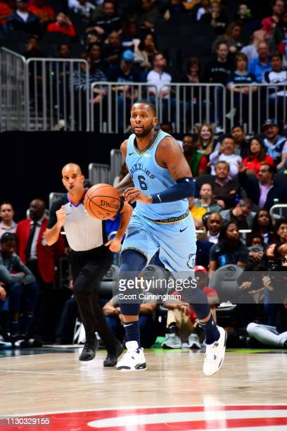 Miles of the Memphis Grizzlies brings the ball up the court against the Atlanta Hawks on March 13 2019 at State Farm Arena in Atlanta Georgia NOTE TO...