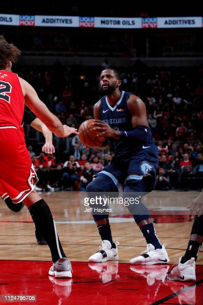 Miles of the Memphis Grizzlies handles the ball against the Chicago Bulls on February 13 2019 at United Center in Chicago Illinois NOTE TO USER User...