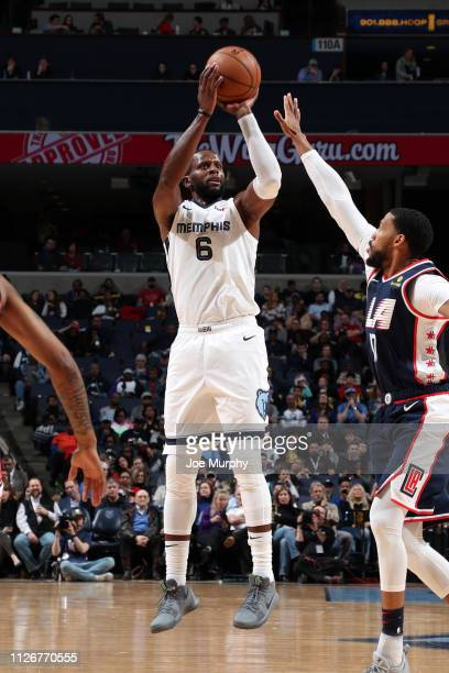 Miles of the Memphis Grizzlies shoots the ball against the LA Clippers on February 22 2019 at FedExForum in Memphis Tennessee NOTE TO USER User...