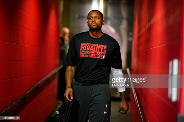 Miles of the Toronto Raptors before the game against the Boston Celtics on February 6 2018 at the Air Canada Centre in Toronto Ontario Canada NOTE TO...