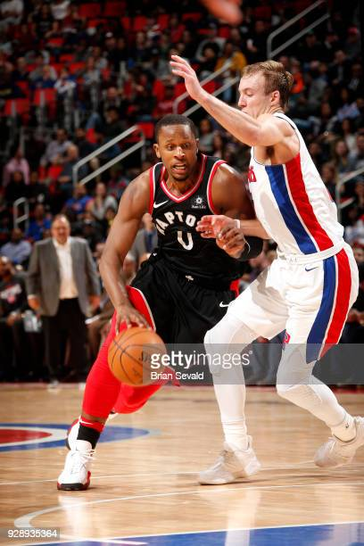 Miles of the Toronto Raptors handles the ball against the Detroit Pistons on March 7 2018 at The Palace of Auburn Hills in Auburn Hills Michigan NOTE...