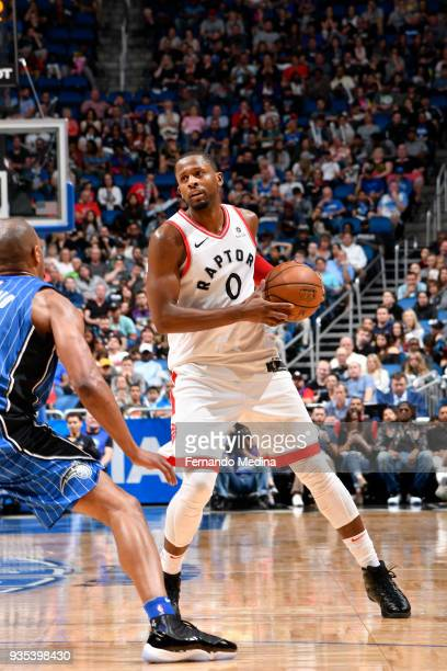 Miles of the Toronto Raptors handles the ball against the Orlando Magic on March 20 2018 at Amway Center in Orlando Florida NOTE TO USER User...