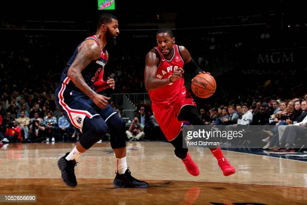 Miles of the Toronto Raptors handles the ball against the Washington Wizards on October 20 2018 at Capital One Arena in Washington DC NOTE TO USER...