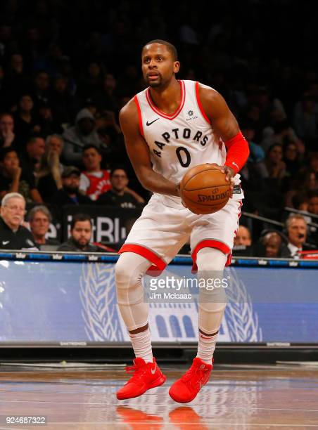 CJ Miles of the Toronto Raptors in action against the Brooklyn Nets at Barclays Center on January 8 2018 in the Brooklyn borough of New York City The...