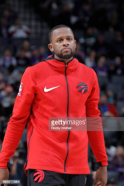 Miles of the Toronto Raptors looks on during the game against the Sacramento Kings on December 10 2017 at Golden 1 Center in Sacramento California...