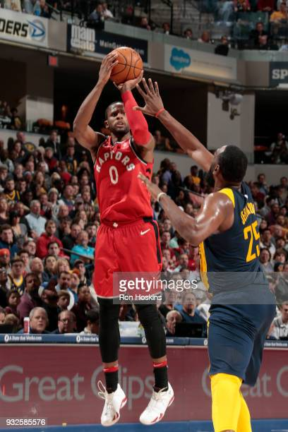 Miles of the Toronto Raptors shoots the ball against the Indiana Pacers on March 15 2018 at Bankers Life Fieldhouse in Indianapolis Indiana NOTE TO...
