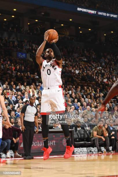 Miles of the Toronto Raptors shoots the ball against the Philadelphia 76ers on October 30 2018 at the Scotiabank Arena in Toronto Ontario Canada NOTE...