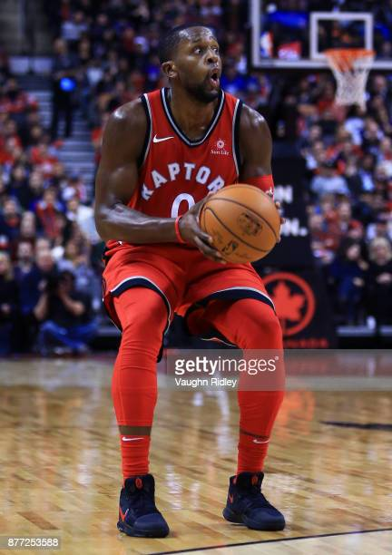 J Miles of the Toronto Raptors shoots the ball during the second half of an NBA game against the Washington Wizards at Air Canada Centre on November...