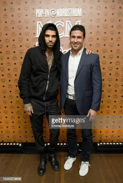 Miles Richie and Patrick Valeo attend PopIn@Nordstrom MCM at Chateau Marmont on October 3 2018 in Los Angeles California