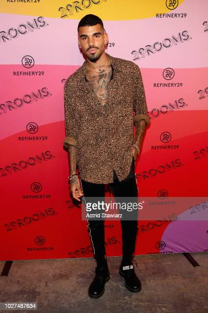 Miles Richie attends the Expand Your Reality Opening Party on September 5, 2018 in Brooklyn City.