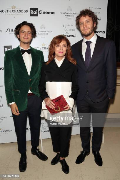 Miles Robbins Susan Sarandon and Jack Henry Robbins attend the Human Flow Party during the 74th Venice Film Festival at San Clemente Palace Hotel on...