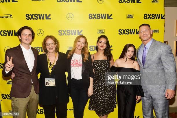 Miles Robbins SXSW Film Festival Director Janet Pierson Kay Cannon John Cena Leslie Mann Geraldine Viswanathan Gideon Adlon and John Cena attend the...