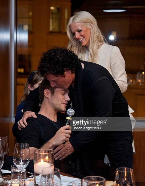 Miles Schon Neal Schon and Michaele Schon attend the reherasal dinner for the wedding of Michaele Schon and Neal Schon at the Four Seasons Hotel on...