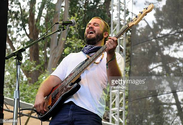 Miles Seaton of Akron/Family performs onstage at the 2009 Outside Lands Music and Arts Festival at Golden Gate Park on August 28, 2009 in San...