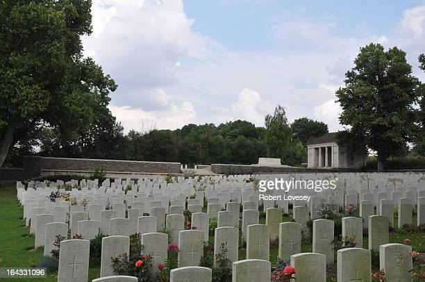 Miles south east of Arras, 700 yards West of Croisilles Station on track from road to St Leger. Begun by 2nd Queen's Regiment 2 Apr 1917 and used...
