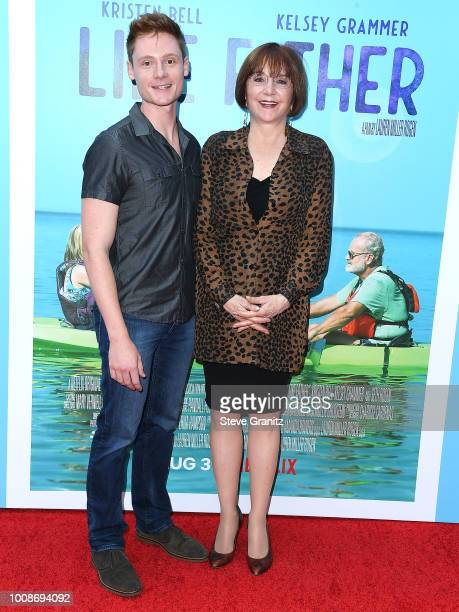 "Miles Tagtmeyer and Lee Garlington arrive at the Premiere Of Netflix's ""Like Father"" at ArcLight Hollywood on July 31, 2018 in Hollywood, California."