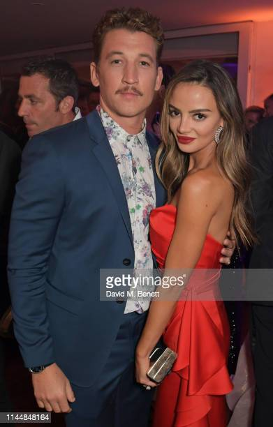 Miles Teller and Keleigh Sperry attend the Vanity Fair and Chopard Party celebrating the 72nd Annual Cannes Film Festival at Hotel du CapEdenRoc on...