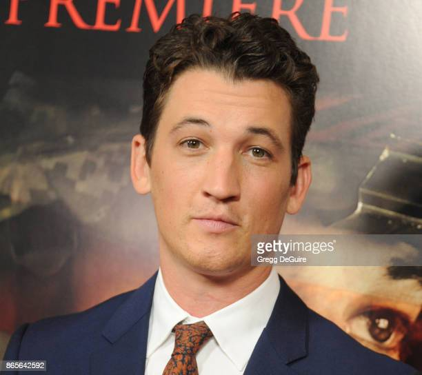 Miles Teller arrives at the premiere of DreamWorks Pictures and Universal Pictures' Thank You For Your Service at Regal LA Live Stadium 14 on October...