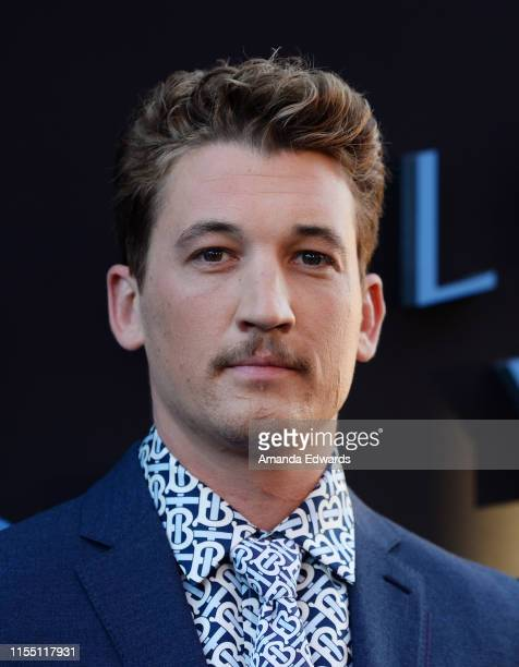 Miles Teller arrives at the LA Special Screening of Amazon's Too Old To Die Young at the Vista Theatre on June 10 2019 in Los Angeles California