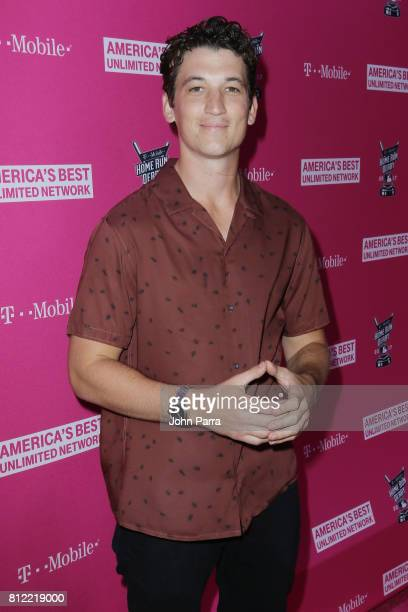Miles Teller arrives at the TMobile Presents Derby After Dark at Faena Forum on July 10 2017 in Miami Beach Florida