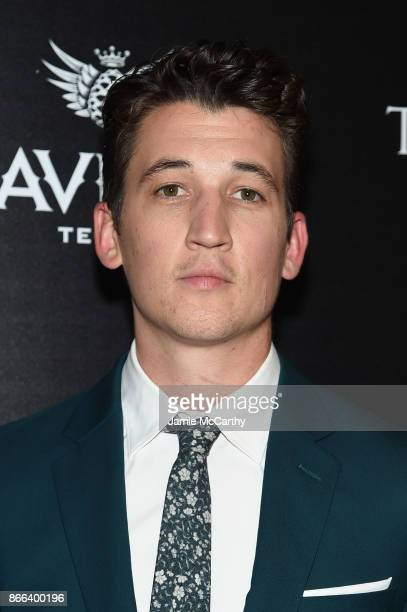 Miles Teller attends a screening of DreamWorks and Universal Pictures' 'Thank You for Your Service' hosted by The Cinema Society at The Landmark at...