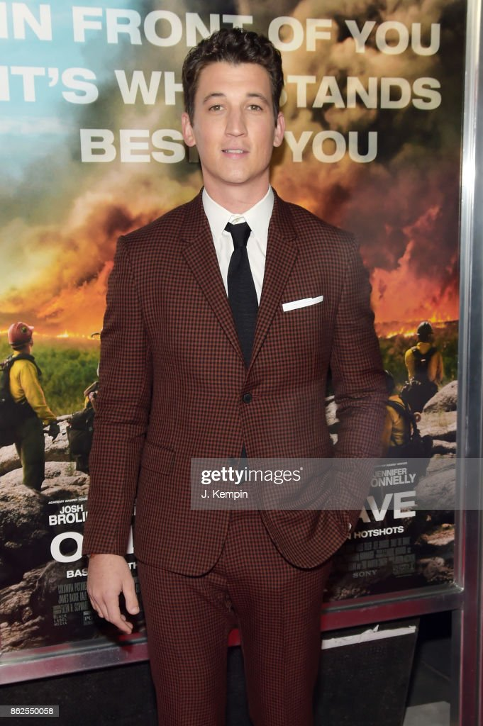 Miles Teller attends 'Only The Brave' screening at iPic Theater on October 17, 2017 in New York City.