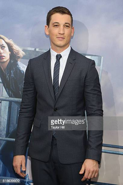 Miles Teller attends the 'Allegiant' New York premiere at AMC Loews Lincoln Square 13 theater on March 14 2016 in New York City