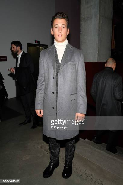 Miles Teller attends the Boss after party during NYFW Men's at Skylight Modern on January 31 2017 in New York City