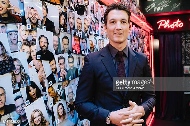Miles Teller backstage during 'The Late Late Show with James Corden' Friday November 18 2016 On The CBS Television Network