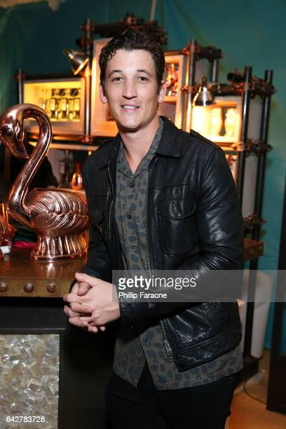 Miles Teller celebrates his 30th birthday at the private residence of Jonas Tahlin CEO Absolut Elyx on February 18 2017 in Los Angeles California