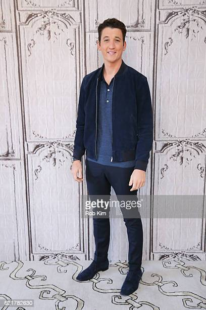 Miles Teller visits at the Build Series at AOL HQ on November 8 2016 in New York City
