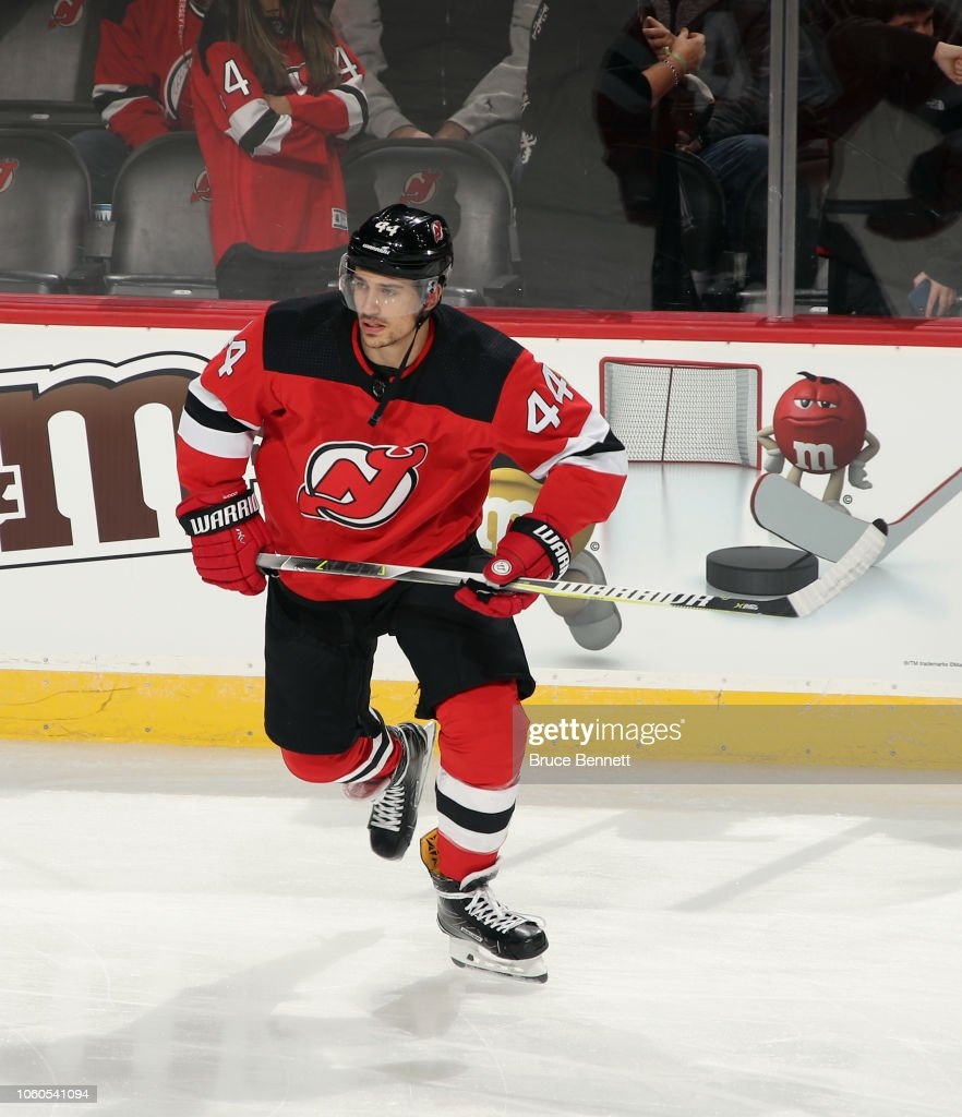 Miles Wood Of The New Jersey Devils Skates Against The Florida