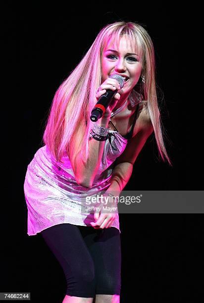 Miley Cyrus aka Hannah Montana at the Gibson Amphitheatre in Universal City California