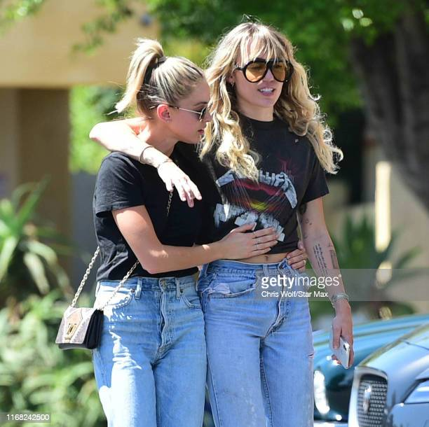 Miley Cyrus and Kaitlynn Carter are seen on September 14 2019 at Los Angeles