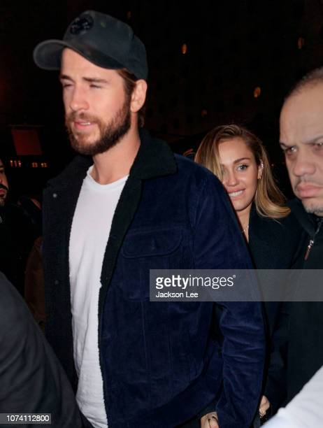 5f3b4cee7d20dd Miley Cyrus and Liam Hemsworth arrive at SNL Afterparty on December 16 2018  in New York