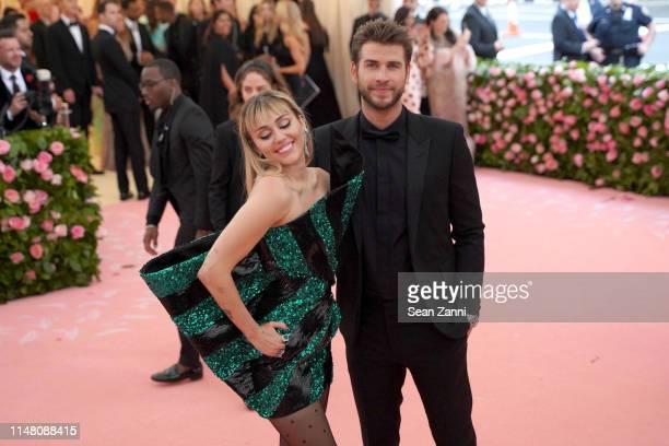 Miley Cyrus and Liam Hemsworth attend The Metropolitan Museum Of Art's 2019 Costume Institute Benefit Camp Notes On Fashion at Metropolitan Museum of...