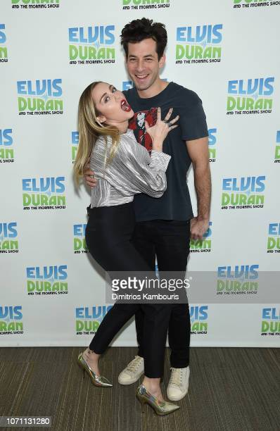 Miley Cyrus and Mark Ronson visit The Elvis Duran Z100 Morning Show at Z100 Studio on December 10 2018 in New York City