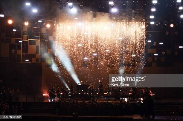 Miley Cyrus and Shawn Mendes perform onstage during the 61st Annual GRAMMY Awards at Staples Center on February 10 2019 in Los Angeles California