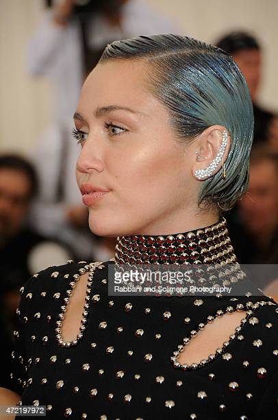 Miley Cyrus arrives at China Through The Looking Glass Costume Institute Benefit Gala at the Metropolitan Museum of Art on May 4 2015 in New York City