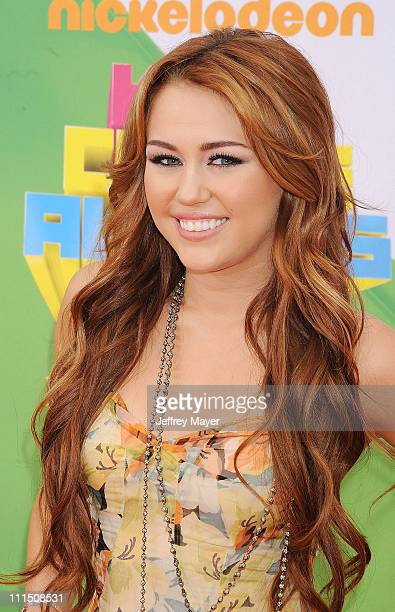 Miley Cyrus arrives at Nickelodeon's 24th Annual Kids' Choice Awards at Galen Center on April 2 2011 in Los Angeles California