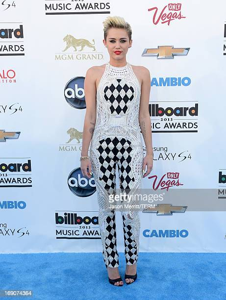 Miley Cyrus arrives at the 2013 Billboard Music Awards at the MGM Grand Garden Arena on May 19 2013 in Las Vegas Nevada