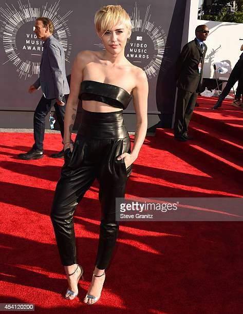 Miley Cyrus arrives at the 2014 MTV Video Music Awards at The Forum on August 24 2014 in Inglewood California