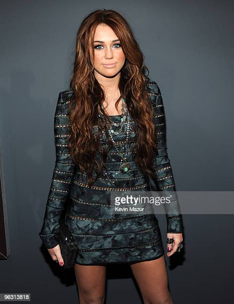Miley Cyrus arrives at the 52nd Annual GRAMMY Awards held at Staples Center on January 31 2010 in Los Angeles California