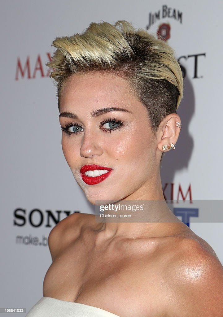 Miley Cyrus arrives for Maxim's Hot 100 Celebration at Create Nightclub on May 15, 2013 in Hollywood, California.